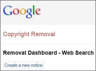 Google DMCA Dashboard