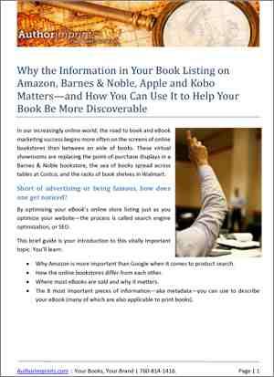 Optimizing eBook Metadata