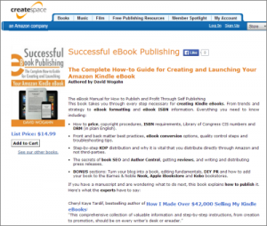 Amazon CreateSpace estore-Successful eBook Publishing