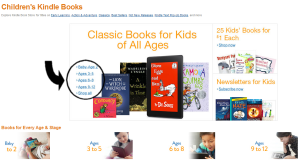Amazon KDP Children's eBook store interest age categories