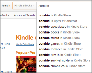 zombie book search kdp keyword selecton