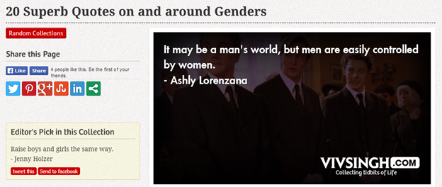 20 superb quotes on and around genders