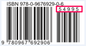 book barcode with ISBN and price