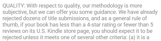 BookGorilla Quality Requirements