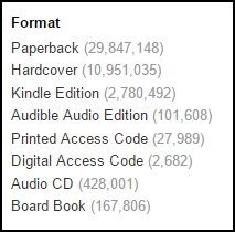 Number of books on Amazon as of October 29 2015