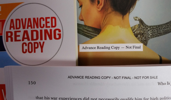 Advance Reader Copy-ARC wording- for printing at CreateSpace