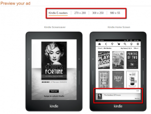 Advertising Kindle eBooks-preview your ad on Kindle e-readers