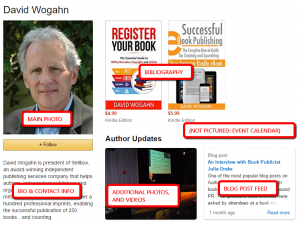 AuthorCentral author profile-David Wogahn