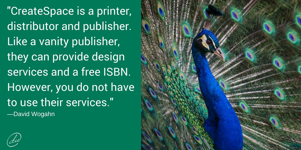 CreateSpace is a printer, distributor and publisher. Like a subsidy publisher, they can provide design services and a free ISBN. However, you do not have to use their services.