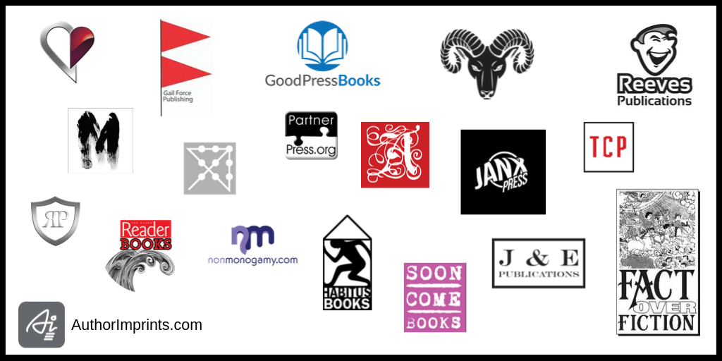 Examples of self-published book imprint logos