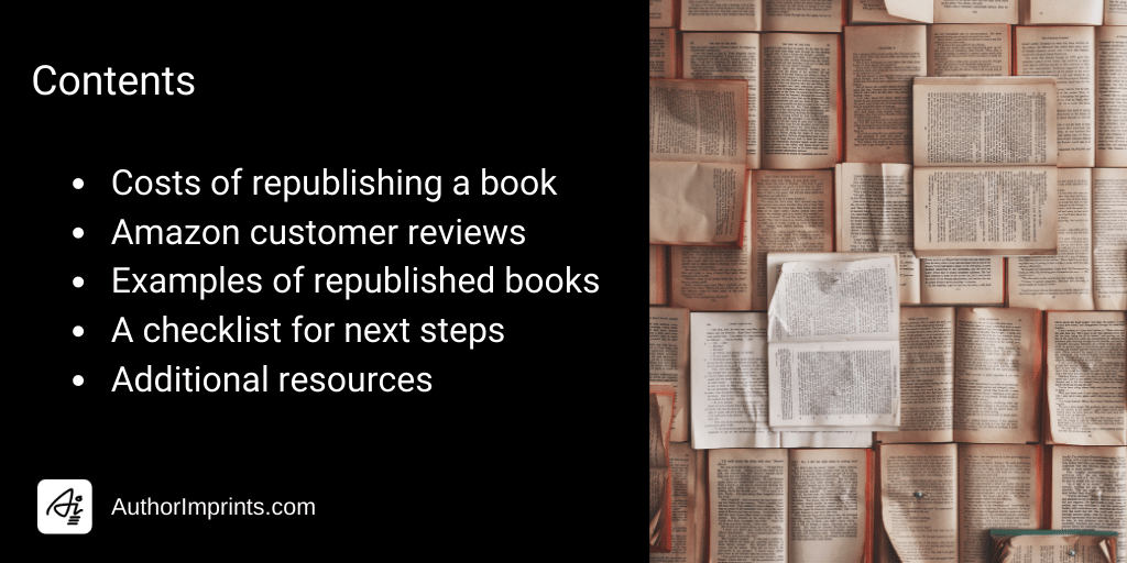 How We Help Authors Republish Books or Republish Reverted Rights Reversions