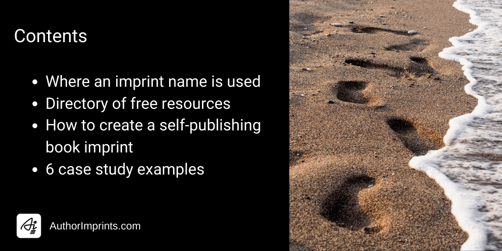How to create a self publishing imprint, where a name is used, free resources, case studies