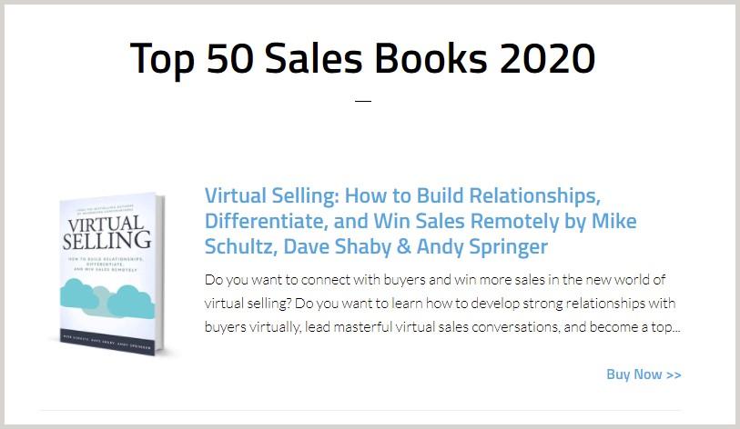 Virtual Selling-Top 50 Sales Books 2020