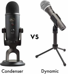condenser vs dynamic microphone